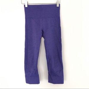 Lululemon zone in crop purple legging- size 6